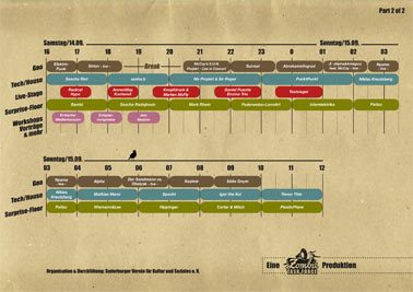 The Meadow Festival, Timetable